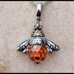 Jewelry - Gorgeous Sterling Citrine Bee Necklace